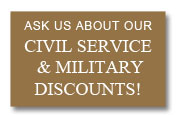 civil service and military discount from Trim Company